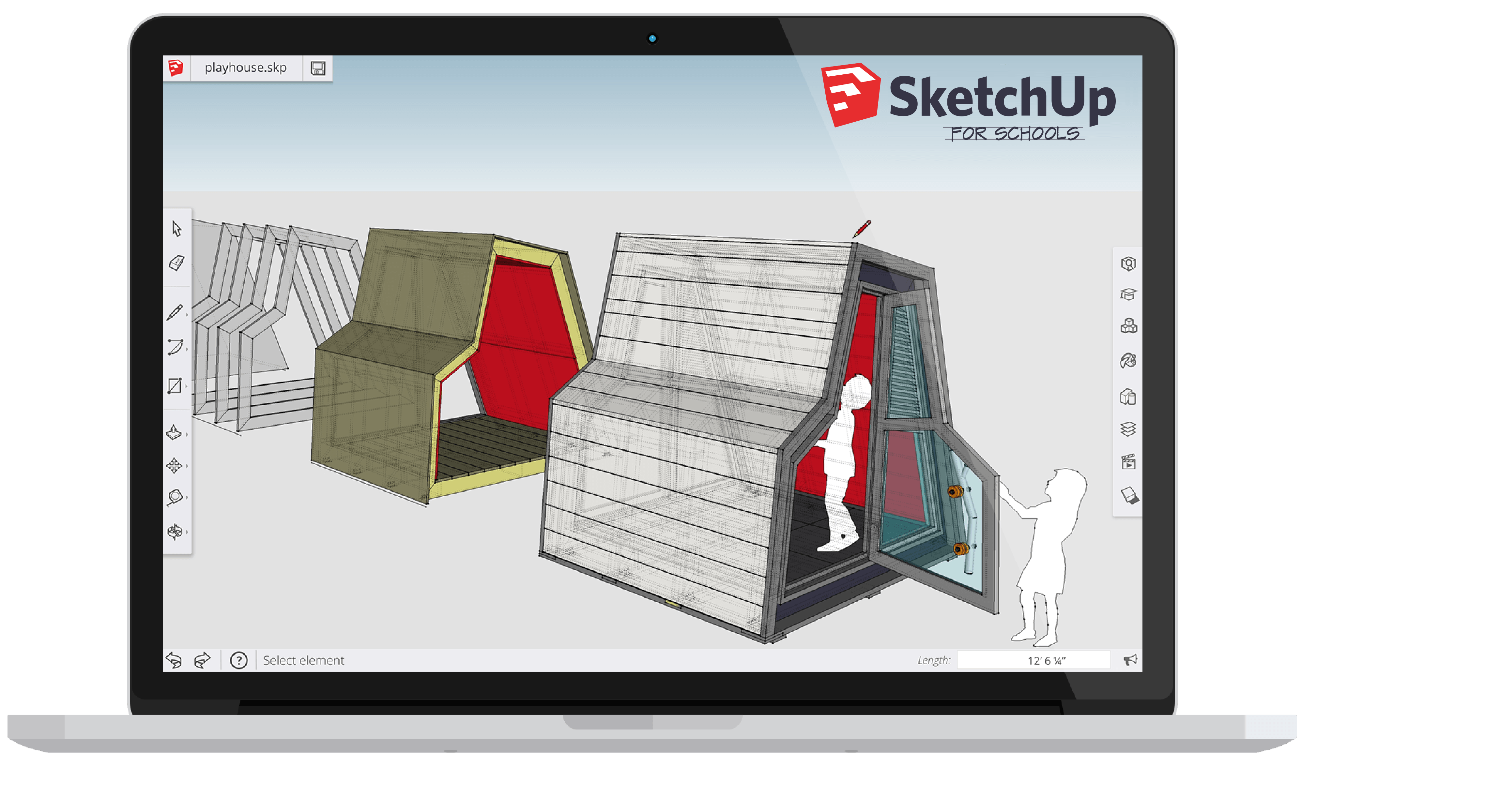 SketchUp for Schools is a browser-based version of SketchUp available to primary and secondary schools.